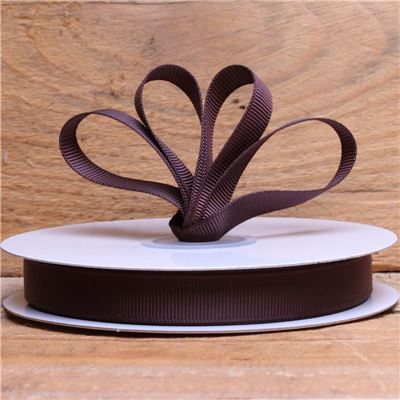 Basics 2 Go Grosgrain Ribbon - 13mm  Black Coffee